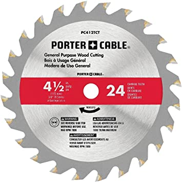 Porter cable pc412tct 4 12 24t tct saw blade amazon porter cable pc412tct 4 12quot 24t tct saw blade keyboard keysfo Image collections
