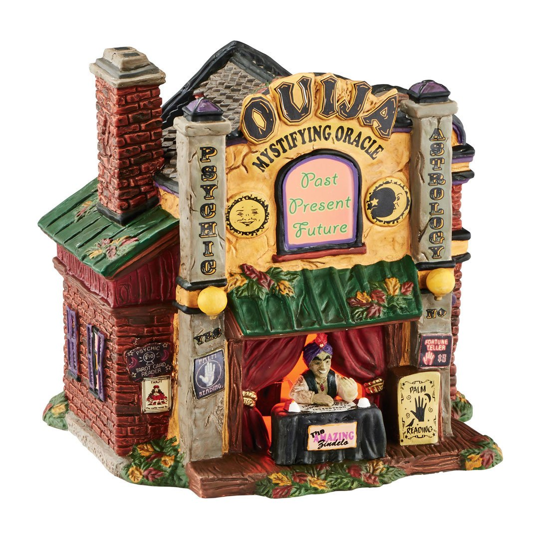 Department 56 Halloween Village Ouija the Mystifying Oracle Lit House