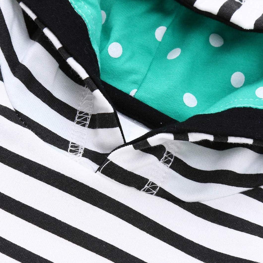 FORESTIME Winter Warm Baby Girls Kids Stripe Cartoon Stereoscopic Print Casual Hooded Princess Long Sleeve Dress