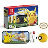 Nintendo Switch Let's Go Pikachu Limited Edition Console with Joycon, Pre-Installed Pokémon: Let's Go Pikachu and Pokeball Plus Controller + HORI Let'S Go Pouch and Pokeball Silicon case