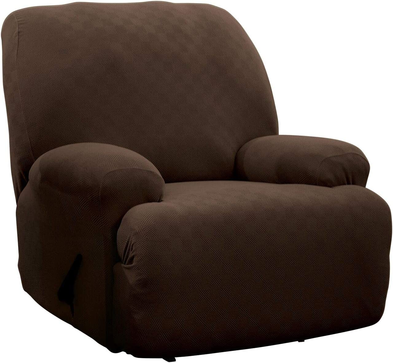 Stretch Sensations, Newport Jumbo Recliner Slipcover, Oversized Recliners, Perfect Chair Protection, Comfortable Easy Stretch Fabric (Chocolate)