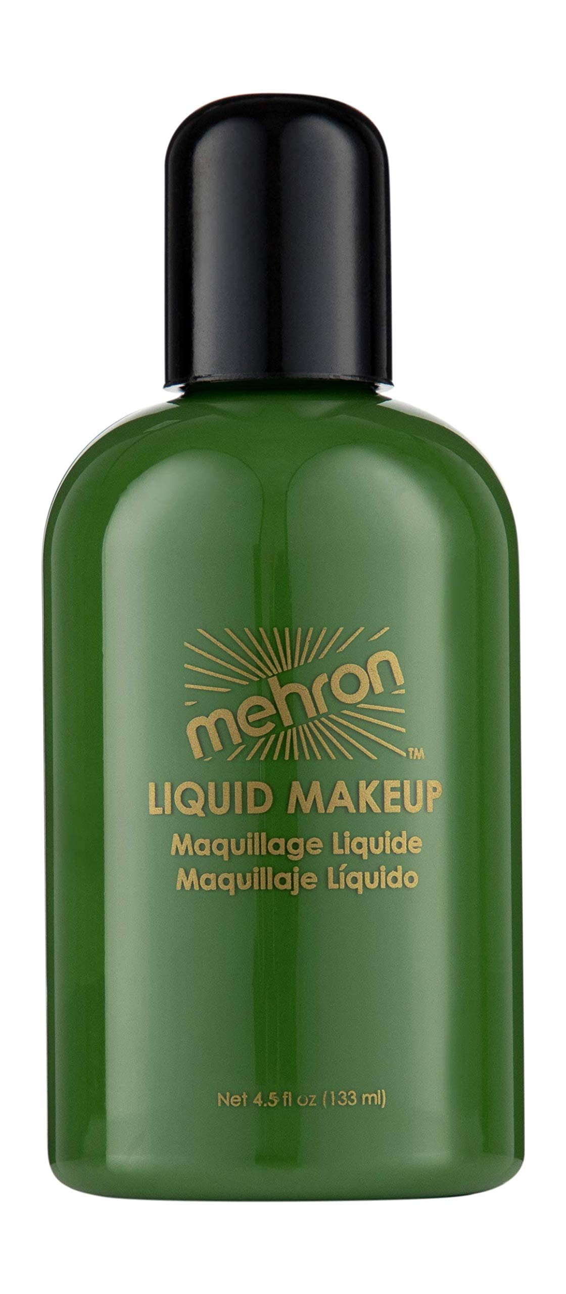 Mehron Makeup Liquid Face and Body Paint (4.5 oz) (GREEN)