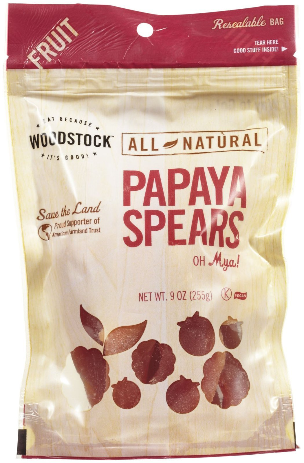 All Natural Papaya Spears 9 oz Pkg
