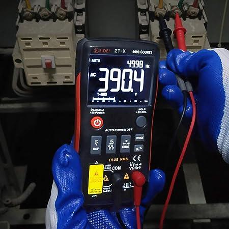 Bside ZT-X True-RMS Digital Multimeter 3-Line Dispaly 9999 Counts Button  Design Auto-Ranging DMM Temperature Capacitance AC/DC Voltage Current Multi