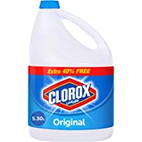 Clorox Original Liquid Bleach, Household Cleaner and Disinfectant, 5.30 L
