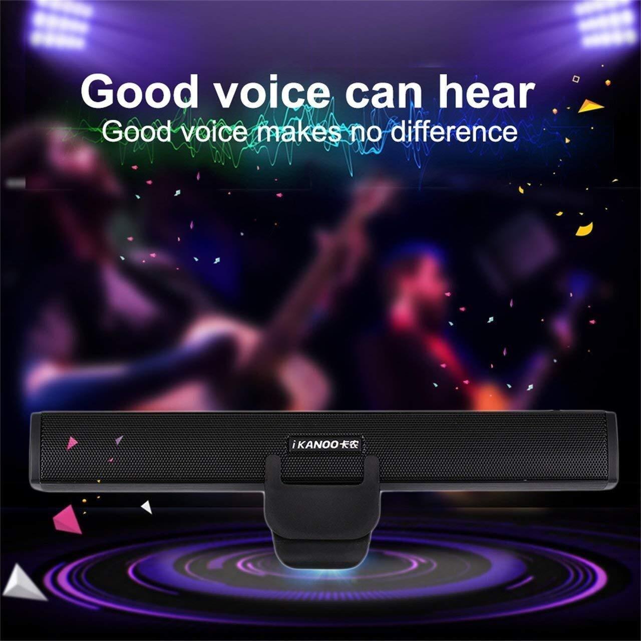 Ljlpropyh PC-Lautsprecher Ikanoo N12 Tragbarer USB-Laptop Tragbarer Stereolautsprecher Audio Soundbar Mini-USB-Laptoplautsprecher for PC-Laptop-Computer