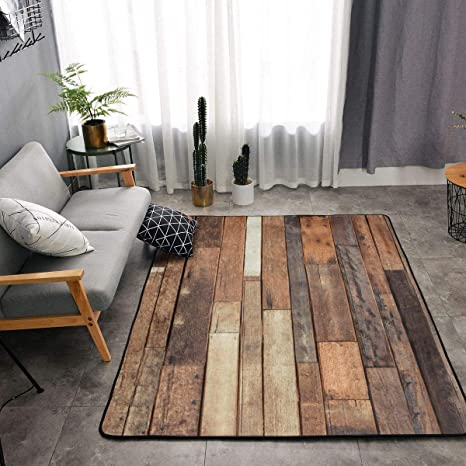 Rustic Floor Planks Print Kitchen Rug Memory Foam Floor Pad Rugs with  Non-Slip Rubber Backing, Fast Dry Throw Bath Rugs Standing Mat Home Decor  Cozy ...