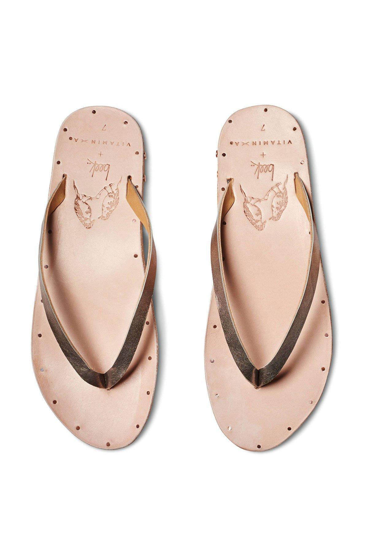 Vitamin A Beek seabird Thong Sandals Bronze/Natural 7