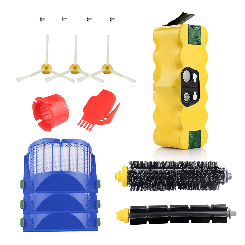 New Upgraded 3500mAh 14.4V Roomba Battery + Accessory Part Kit for iRobot Roomba 600 Series 600 610 614 620 625 630 635 640 645 650 655 660 665 670 680 690