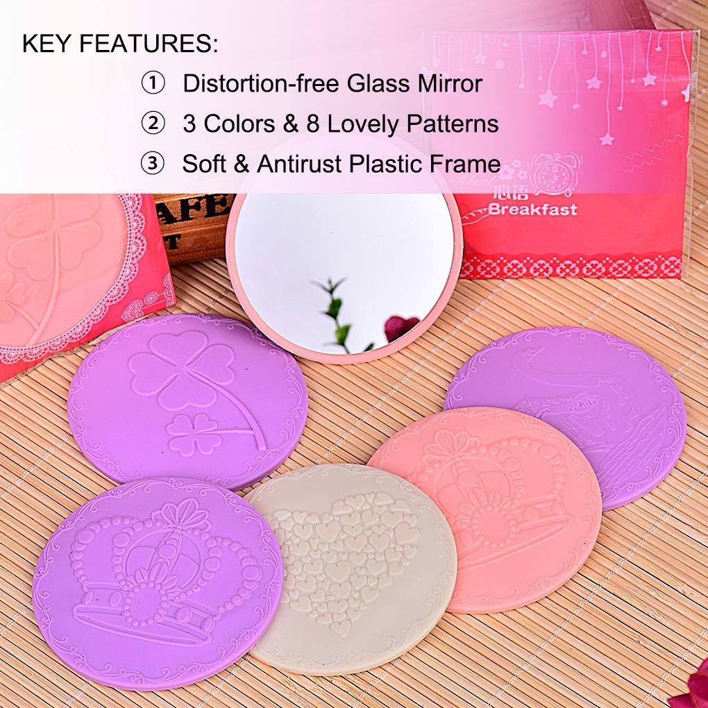 Amazon.com: Mini espejo a granel, espejo redondo de cristal ...