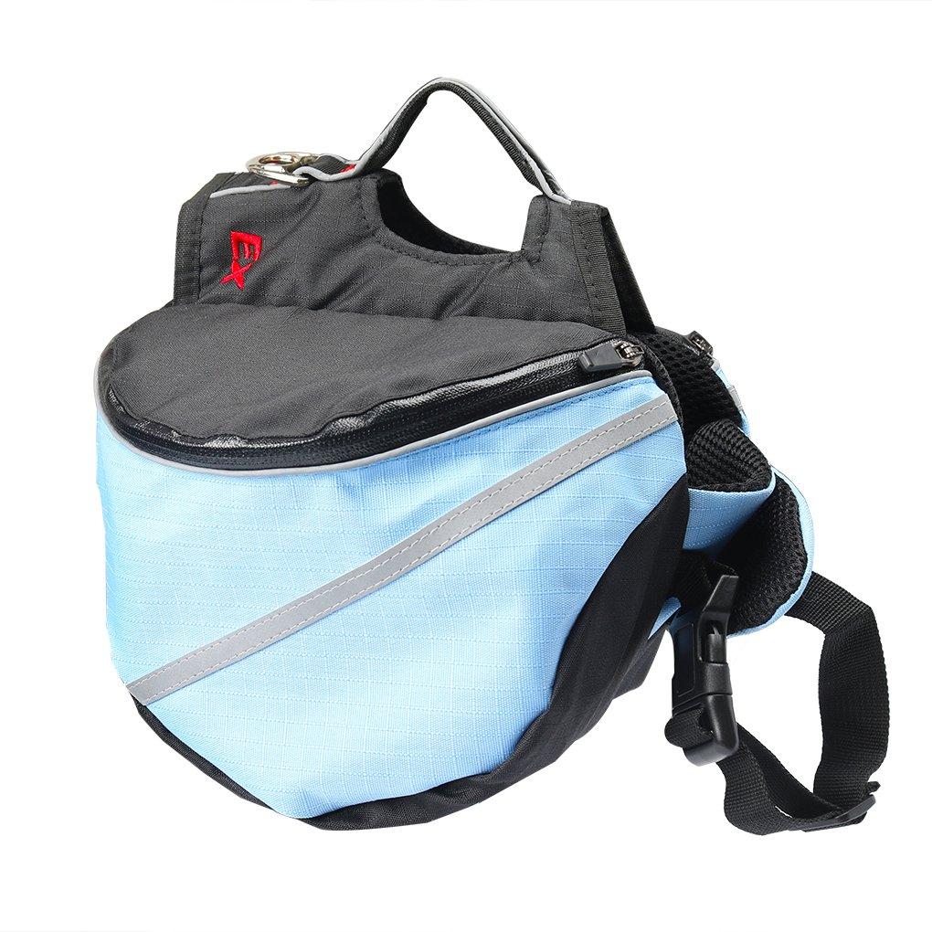 Ustyle Dog Backpack,Pet Adjustable Saddle Bag Backpack Harness Carrier Large Capacity Tripper Hound Bag for Traveling Hiking Camping for Medium Dog