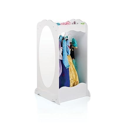 Guidecraft Dress Up Center With Mirror White   Armoire, Dresser Kidsu0027  Furniture