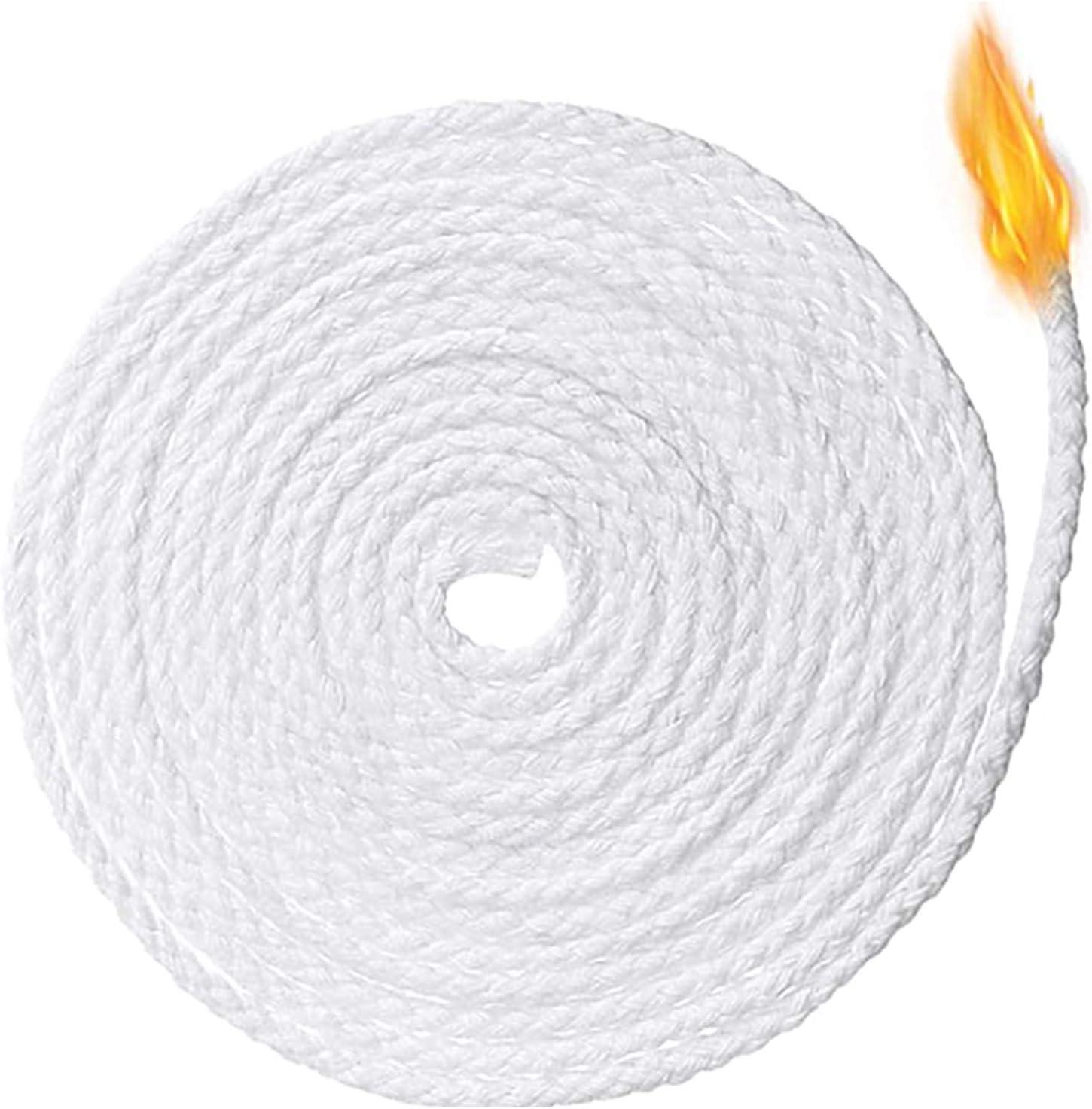 DIY Kerze Aoliandatong 61m Kerzendocht,2 Rollen Kerzendochte aus Baumwolle Geflochtene Flachdocht Runddocht f/ür die Kerzenherstellung /Öllampe