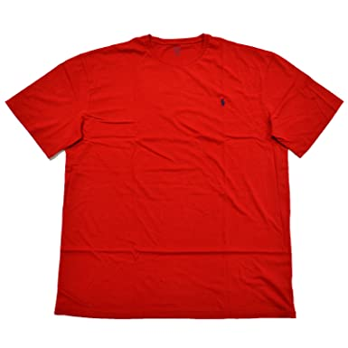 b496561cf1789 Polo Ralph Lauren Mens Big & Tall Crew Neck T-Shirt (3XB, Red ...