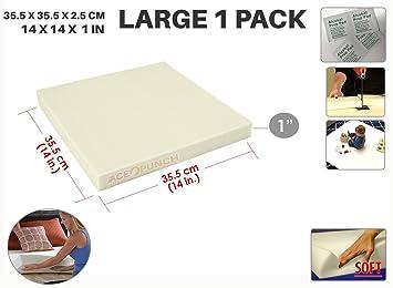 Ace Punch Soft Alta Densidad Gomaespuma de Tapicería Upholstery Cushion 35 x 35 x 2 cm AP1137: Amazon.es: Hogar