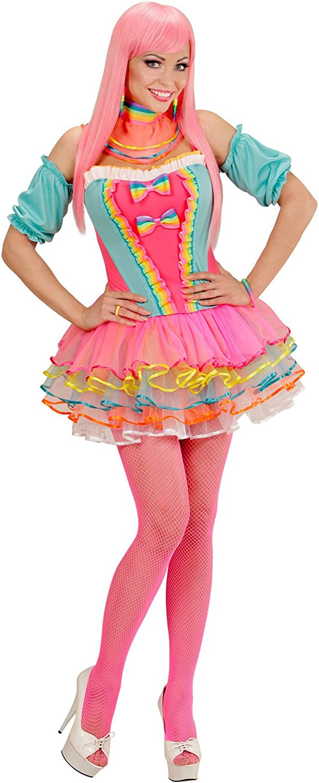 Felicitaciones payaso Mujer para mujer Disfraz Circo Multicolor ...