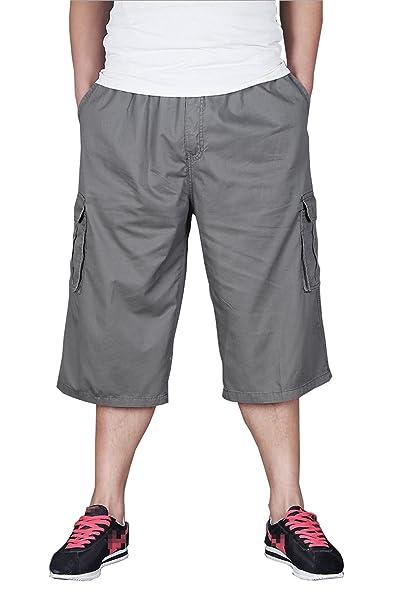Casuale grasso uomo Pantaloni fertilizzante ritagliata pantaloni stretti hip  hop uomini pantaloni sciolti Plus Size ce0119b4dc57