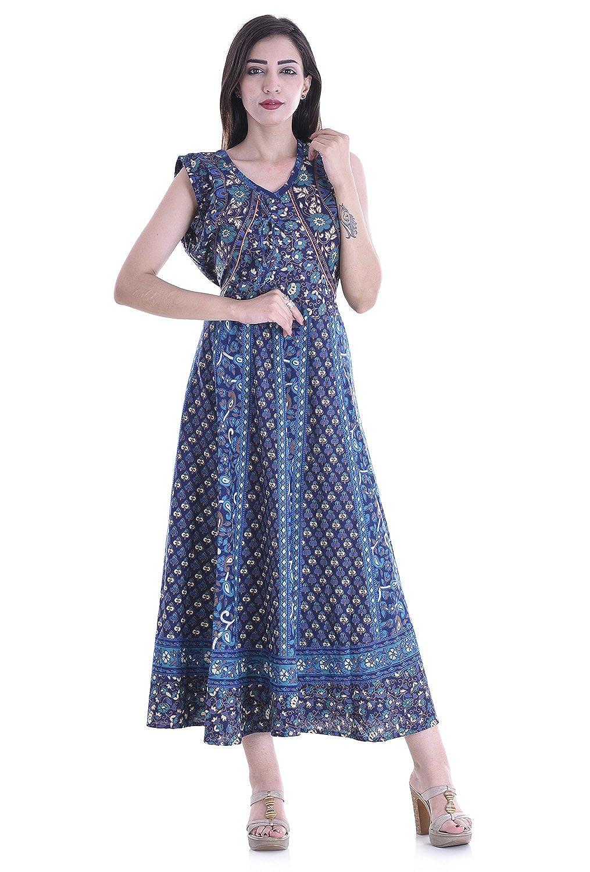 4a8d1f2600 Indian Maxi Dresses Cotton   Saddha