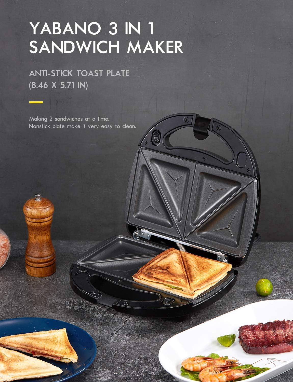 Yabano Sandwich and Waffle Maker