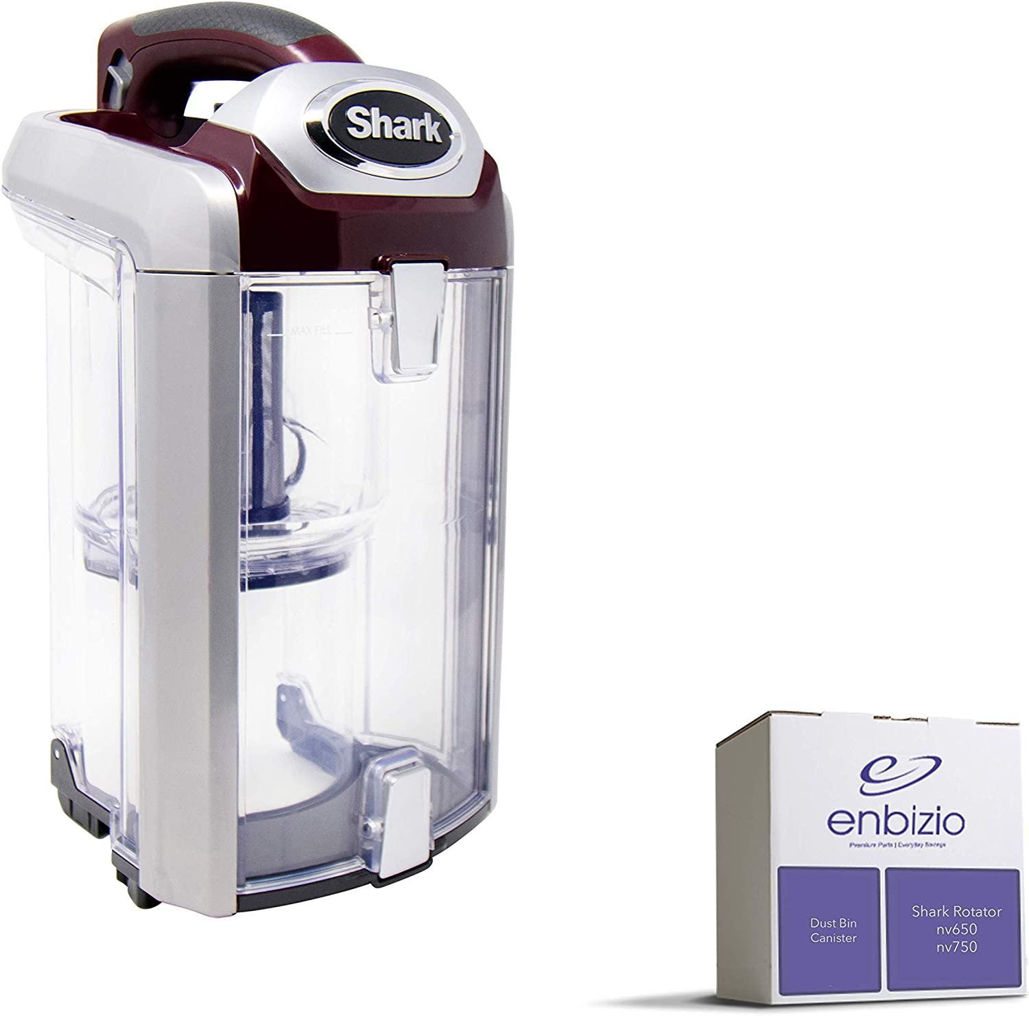Enbizio Genuine Shark Vacuum Replacement Parts for The Shark Professional Rotator Powered Lift Away Upright Vacuum Nv650 Nv750 - Dust Bin Canister Attachment - Part #1280FC652