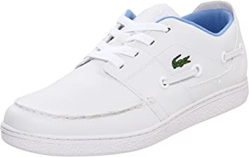4a885a05c8f328 Lacoste Cabestan Cup White Blue Leather Tennis Oxford Sneakers Boat ...