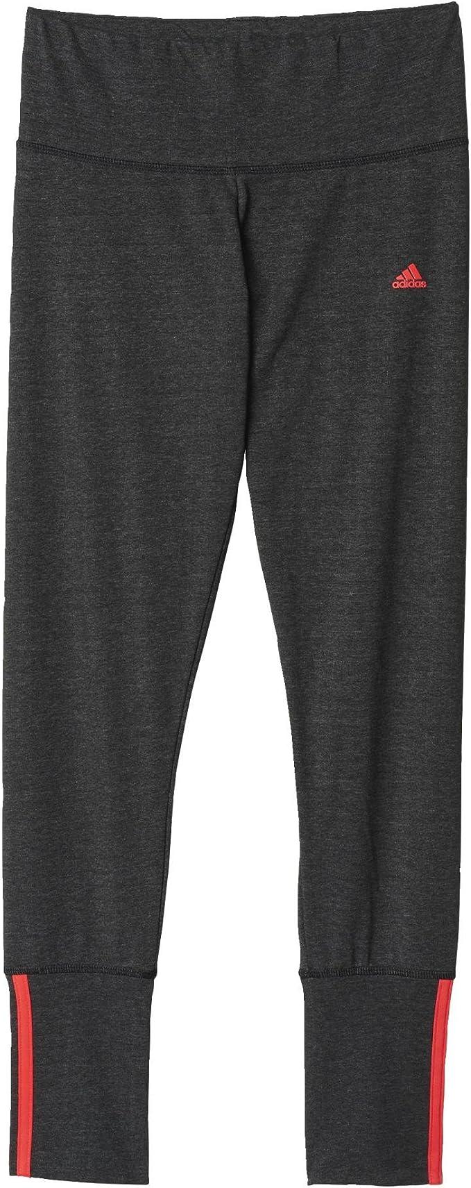 adidas Damen Hose Essentials Mid 3 Stripes Long Tights