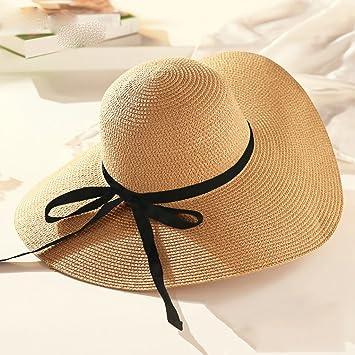 Sombreros de paja de verano Gorras de playa para mujeres Sombreros para el sol  Gorras frías 40e7e1737b2