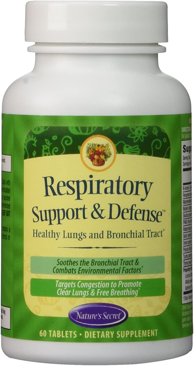Nature's Secret Respiratory Support and Defense -- 60 Tablets