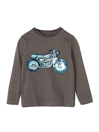 268e0c924d6ef Vertbaudet T-Shirt garçon à Sequins réversibles Anthracite 4 A ...