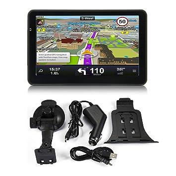 710 7 Pulgadas Navegador GPS para Camiones de Coche Navegador Capacitivo FM de Pantalla de 256M