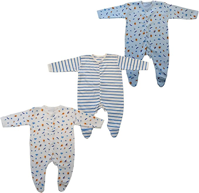 Brim hugs and Cuddles Cotton Jump Suit for Baby boy/Baby Girl (Pack of 3) Baby at amazon