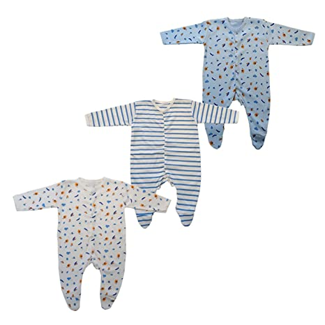 Brim hugs and Cuddles Cotton Jump Suit for Baby boy/Baby Girl (Pack of 3) Baby Boys at amazon