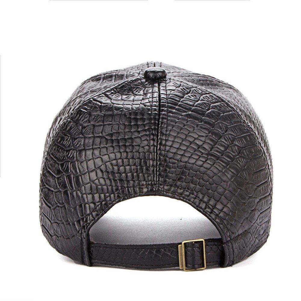 944276eaf32a0 Amazon | Hawkkoキャップ レザー メンズ シンプル 無地 おしゃれ 帽子 調節可能 秋 冬 春 夏 野球/ゴルフ/カジュアル  PU01(ブラック) | キャップ 通販