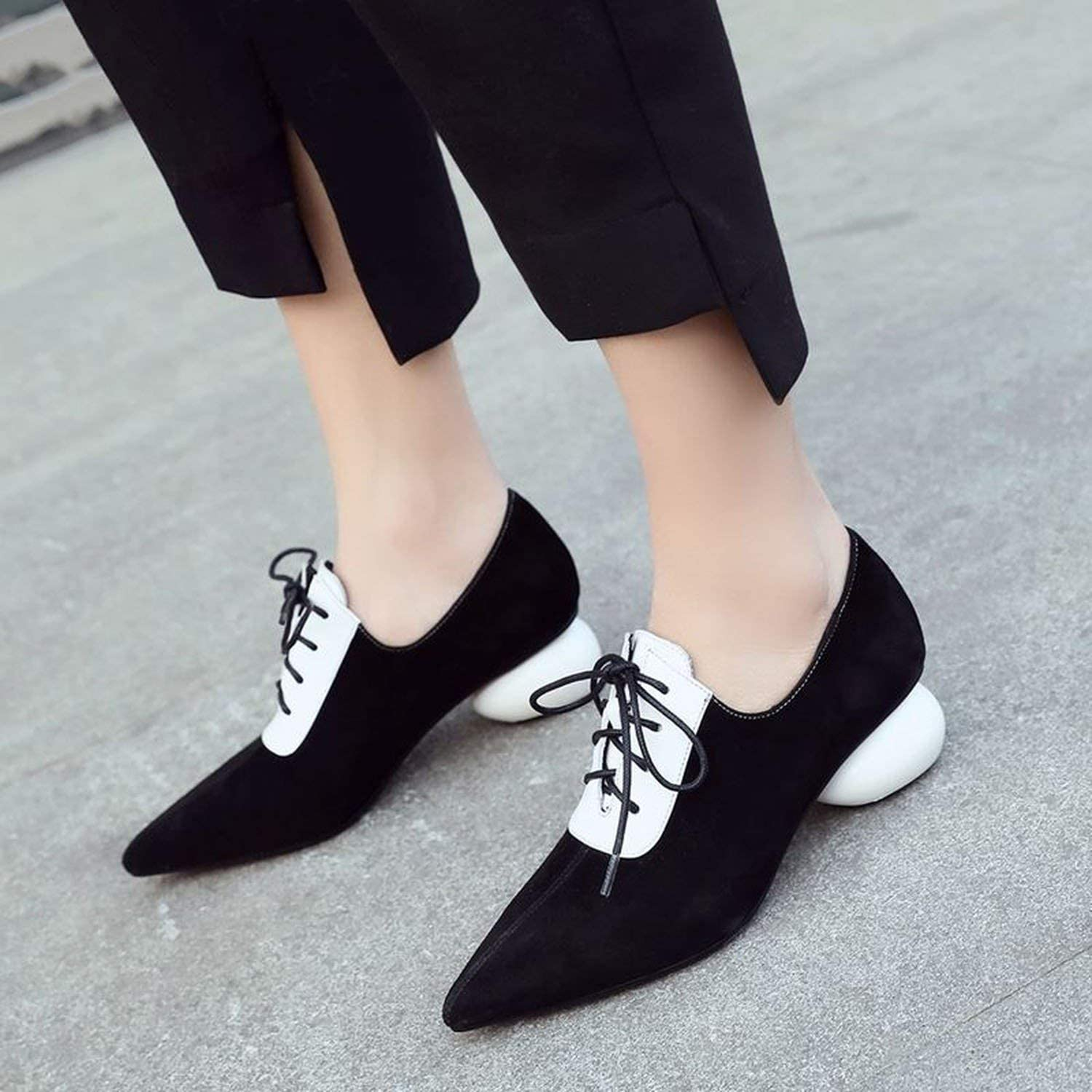 High Heels Leather Thick Heel Shoes High Heel Shoes British Style Women Heels Girls Shoes