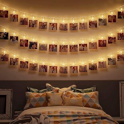 Amazon Com Photo Clips String Lights Holder Battery