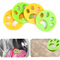 WENTS Washing Machine Hair Remover Laundry Hair Remover Balls Reusable Cleaning Ball For Laundry Floating Pet Fur Catcher Filtering Hair Removal Device 4Pcs
