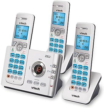 Vtech ds6722 – 3 DECT 6.0 3-handset teléfono inalámbrico con sistema de respuesta digital: Amazon.es: Electrónica