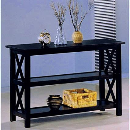 Amazoncom Hallway Console Table With Storage Shelves Cappuccino