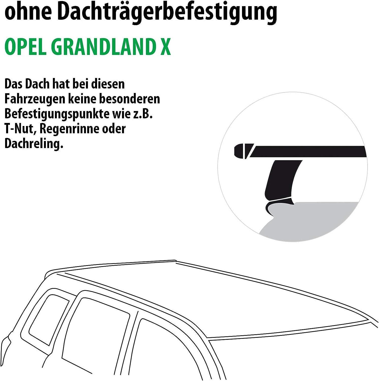 Rameder Komplettsatz 147912-38031-1 Dachtr/äger WingBar EVO f/ür OPEL GRANDLAND X