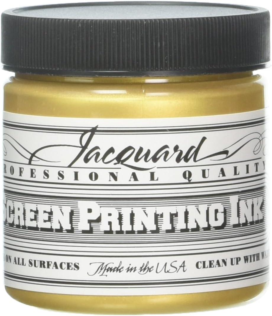 4 oz Jacquard JAC-JSI1114 Screen Printing Ink Yellow Green