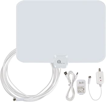 1byone OUS00-0562 50 Miles Amplified HDTV Antenna