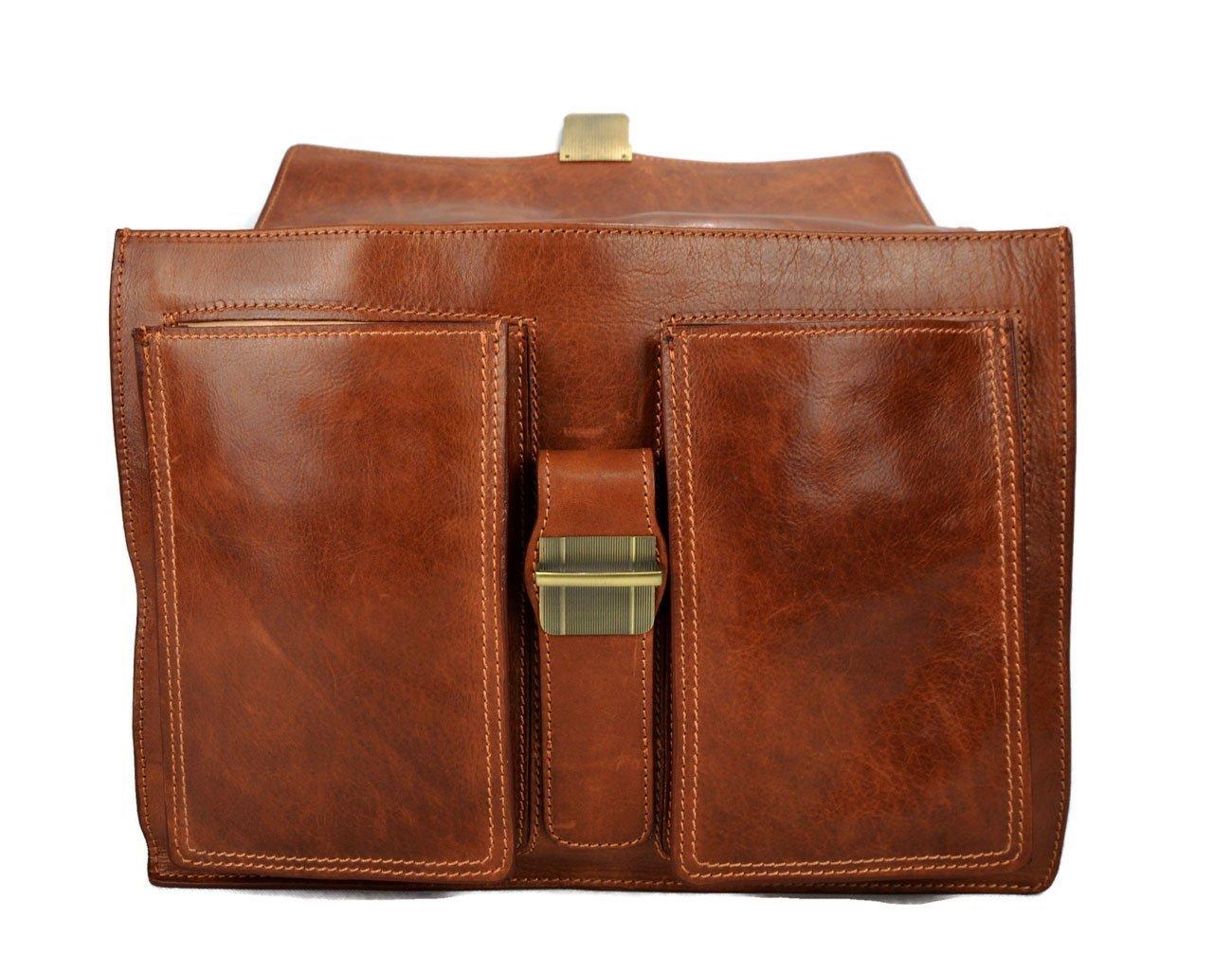 188ad6c31b36 Amazon.com  Leather briefcase business bag conference bag satchel office bag  shoulder folder shoulder bag men woman executive briefcase matt brown   Handmade