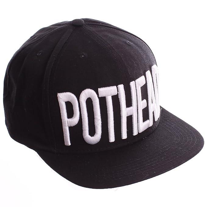 62e36fcd2d1 BOOGER Black   White Pothead Snapback Baseball Hat at Amazon Men s ...
