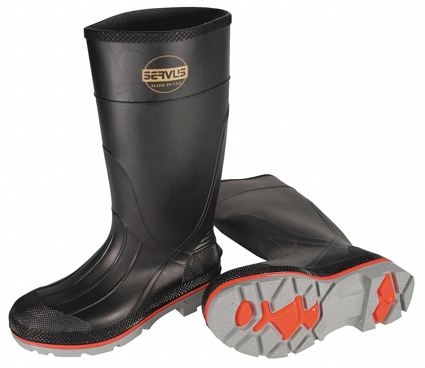 Honeywell Servus 15''H Men's Knee Boots, Plain Toe Type, PVC Upper Material, Black, Size 9 9 75108/9-1 Each