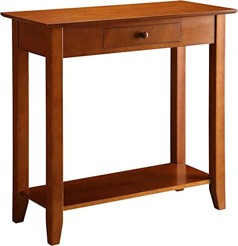 Convenience Concepts American Heritage Hall Table with Drawer and Shelf, Cherry