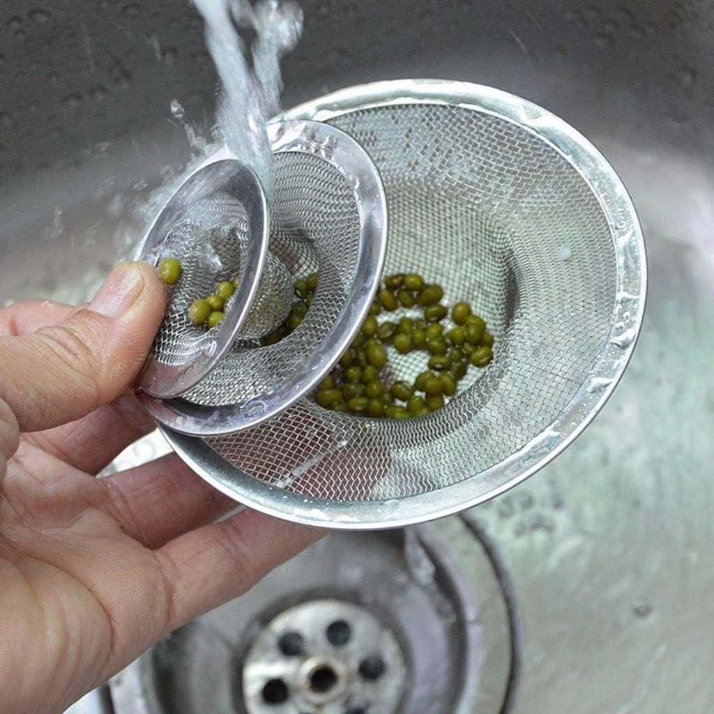 4pcs filtre en acier inoxydable de bain de cheveux bouchon maille /évier tamis bouchon de vidange 11 cm de m/ême taille /él/égant et populaire