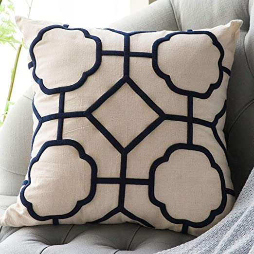 Amazon Com Dokot Throw Pillow Covers 20x20 Inch Embroidered