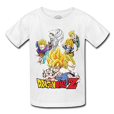 T Shirt Enfant Dragon Ball Z Sangoku Trunk Vegeta Piccolo