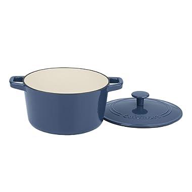 Cuisinart CI630-20BG 3 Qt Casserole, Covered, Enameled Provencial Blue