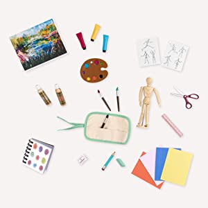 Our Generation by Battat- Art Class Supplies- Toy, Doll & Accessories for 18